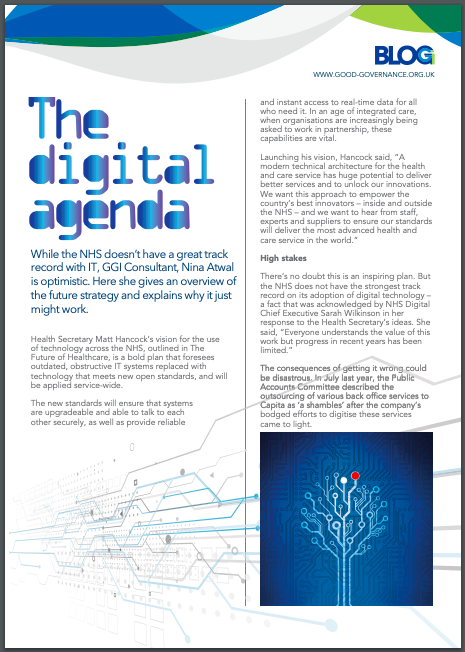 The Digital Agenda for the NHS