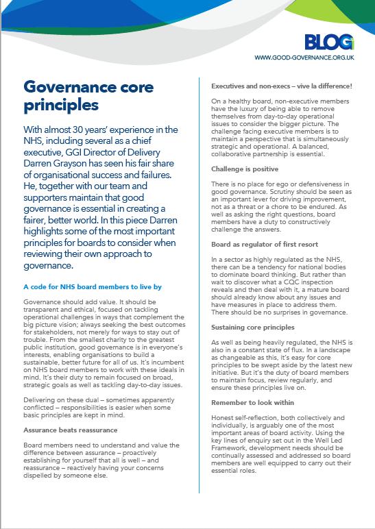 Governance Core Principles