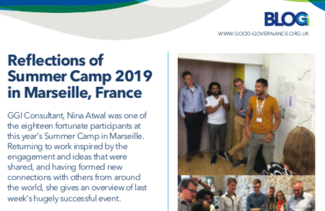 Reflections of Summer Camp 2019 in Marseille, France