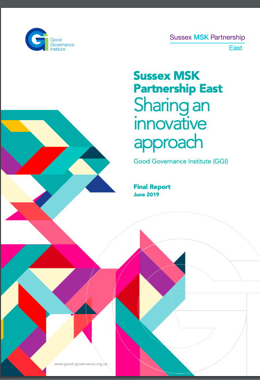 Sussex MSK Partnership East - Sharing an innovative approach - June 2019