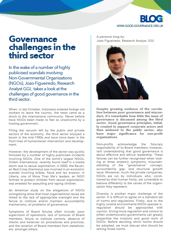 Governance challenges in the third sector