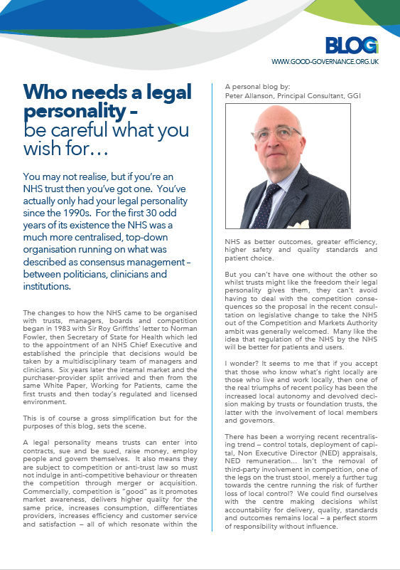 Who needs a legal personality – be careful what you wish for…