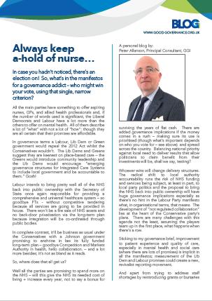 Always keep a-hold of nurse…