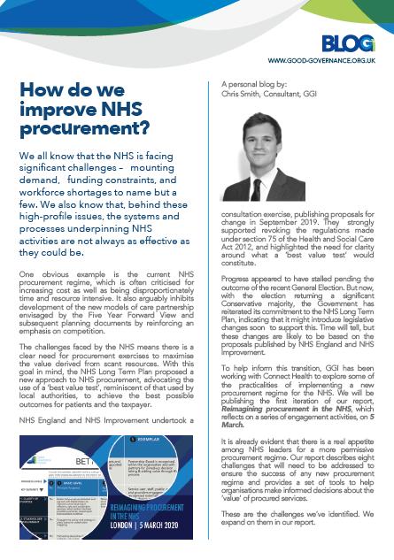 How do we improve NHS procurement?