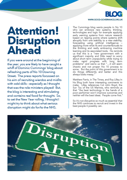 Attention – Disruption Ahead