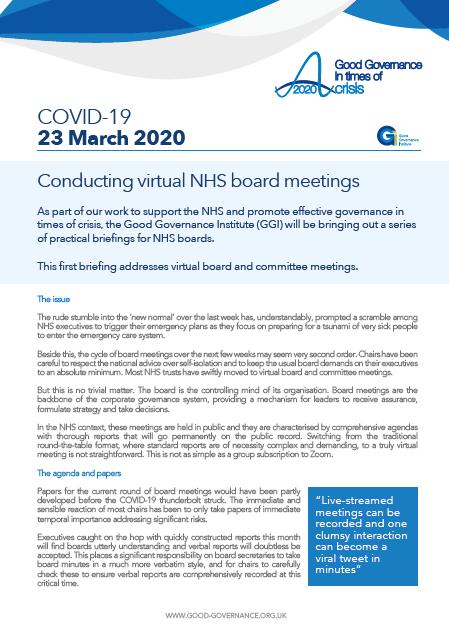 Conducting virtual NHS board meetings