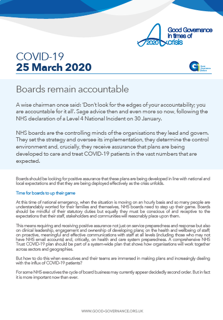 Boards remain accountable