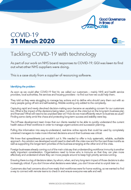 Tackling COVID-19 with technology