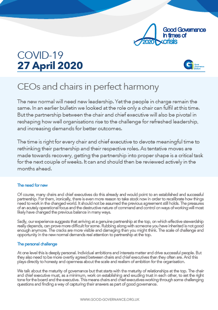 CEOs and chairs in perfect harmony