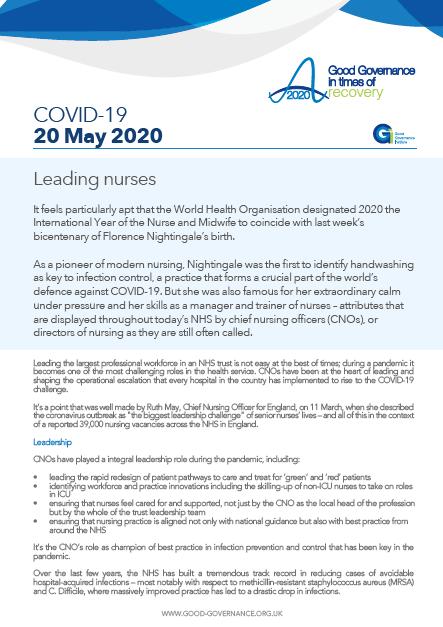 Leading nurses
