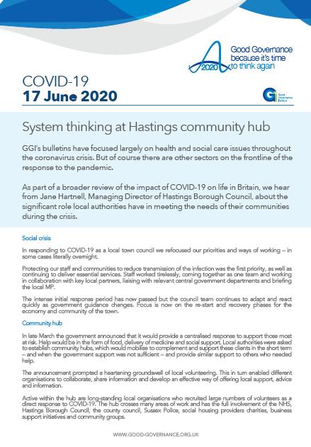 System thinking at Hastings community hub