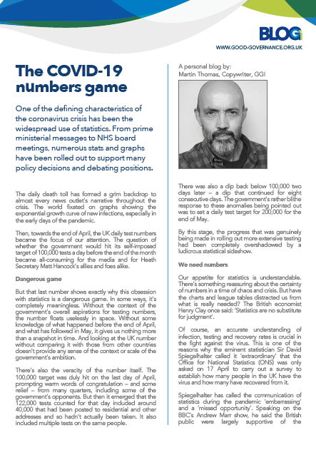 The COVID-19 numbers game