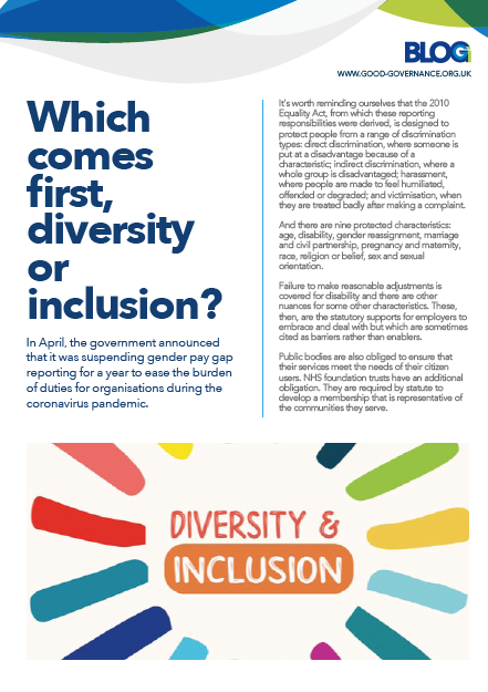 Which comes first, diversity or inclusion?