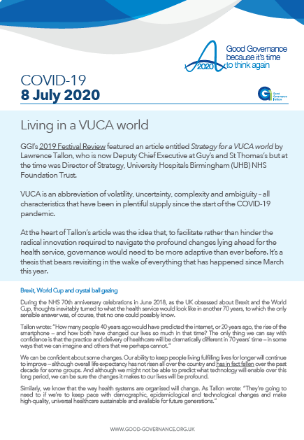 Living in a VUCA world