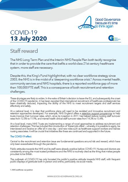 Staff reward
