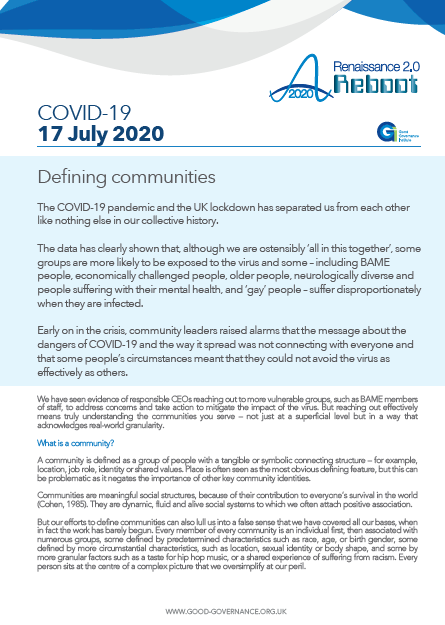 Defining communities