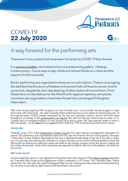 A way forward for the performing arts