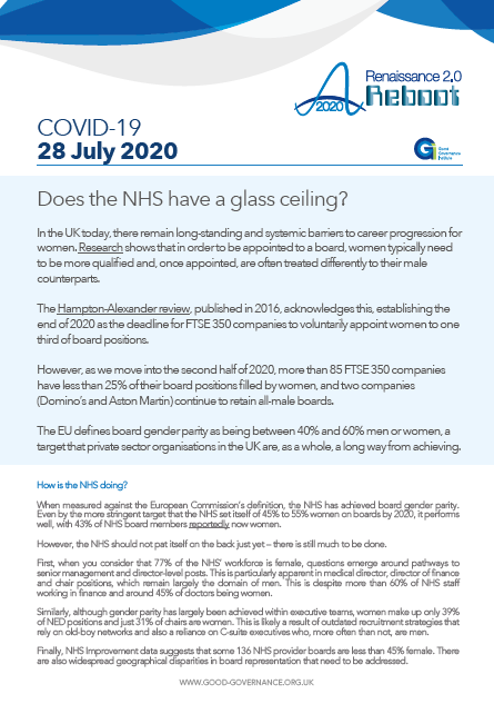 Does the NHS have a glass ceiling?