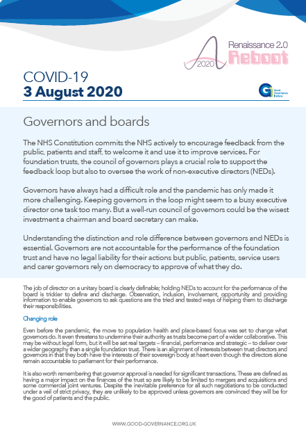 Governors and boards