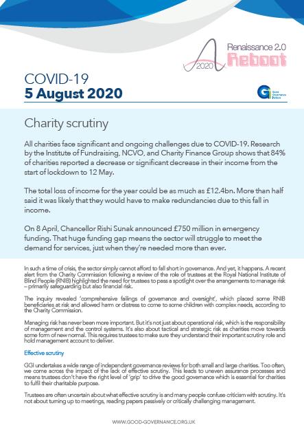 Charity scrutiny