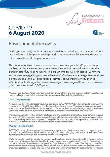 Environmental recovery