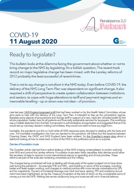 Ready to legislate?