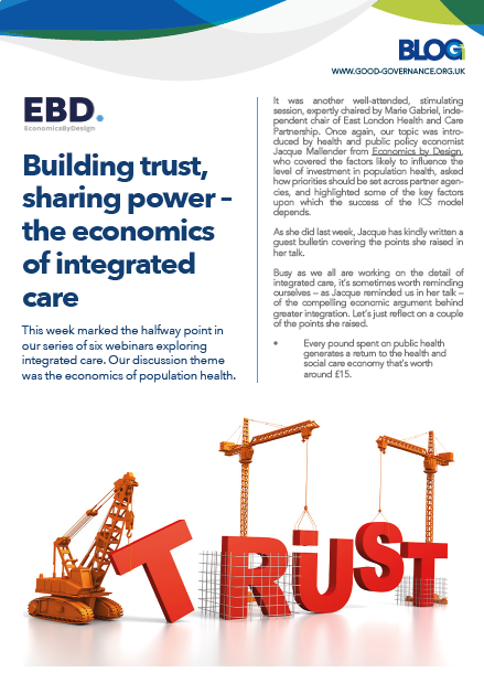 Building trust, sharing power – the economics of integrated care