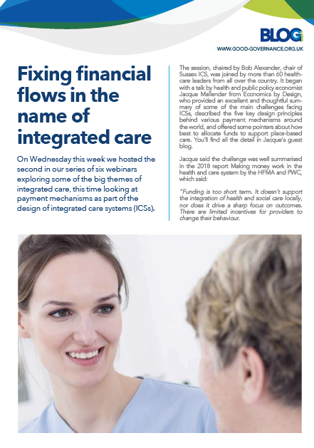 Fixing financial flows in the name of integrated care