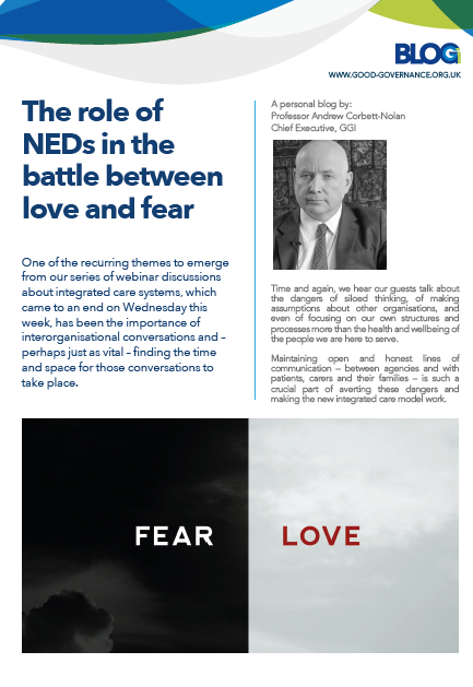 The role of NEDs in the battle between love and fear