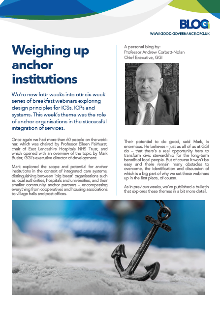 Weighing up anchor institutions