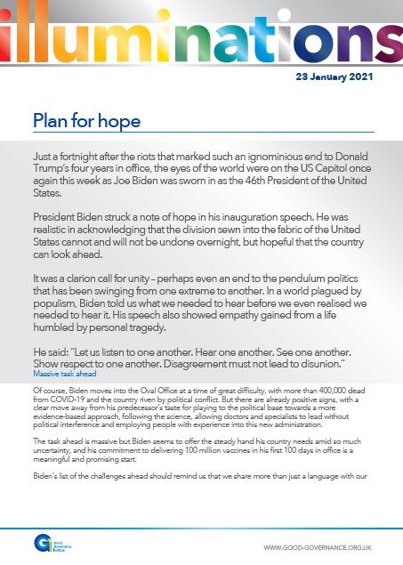 Plan for hope
