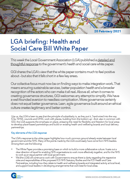 LGA briefing: Health and Social Care Bill White Paper