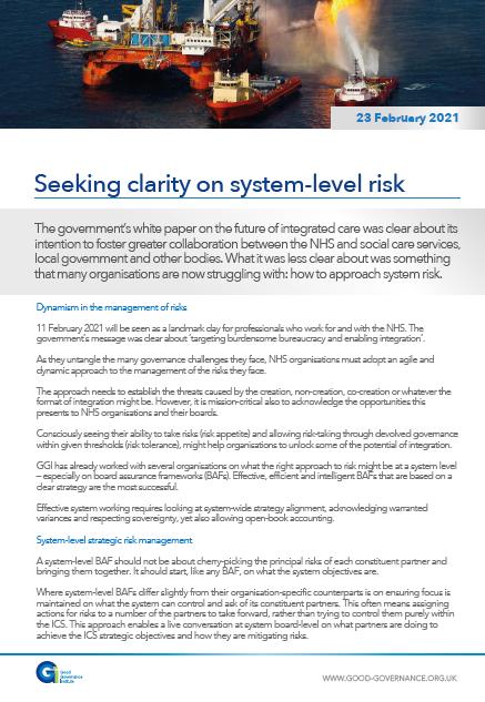 Seeking clarity on system-level risk