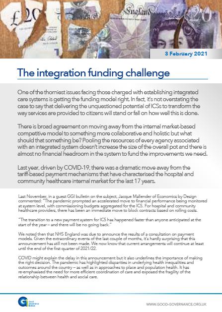 The integration funding challenge
