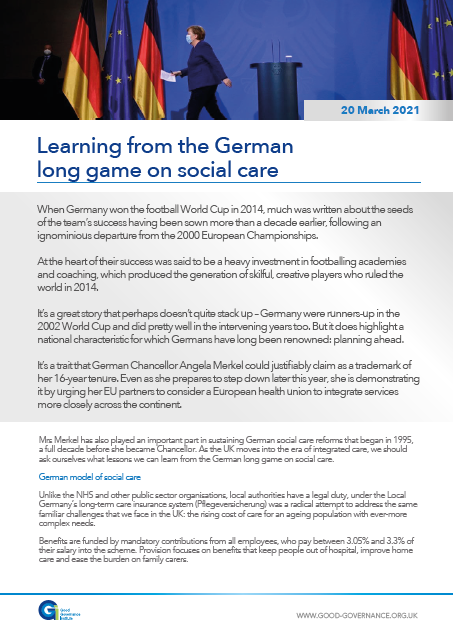 Learning from the German long game on social care