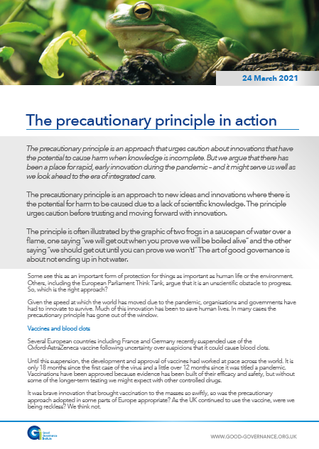 The precautionary principle in action