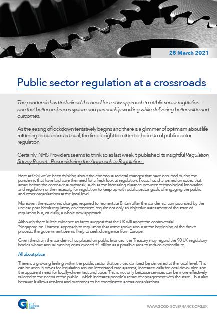 Public sector regulation at a crossroads