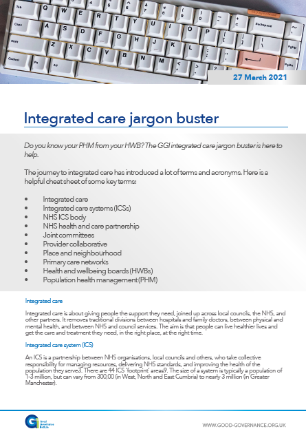 Integrated care jargon buster