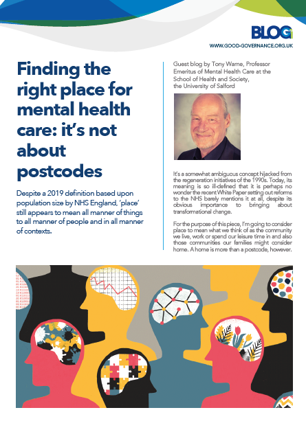 Finding the right place for mental health care: it's not about postcodes