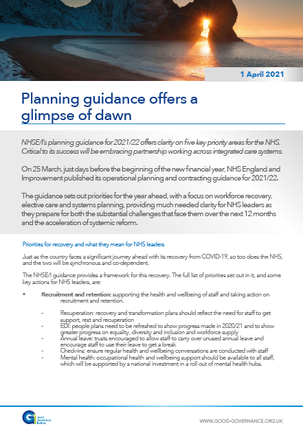 Planning guidance offers a glimpse of dawn