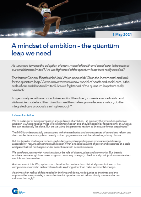 A mindset of ambition – the quantum leap we need