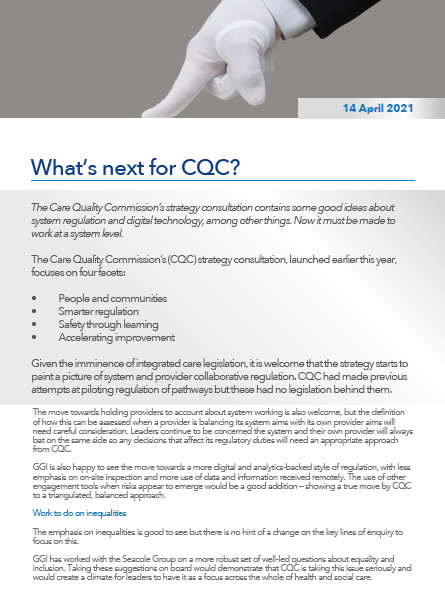 What's next for CQC?