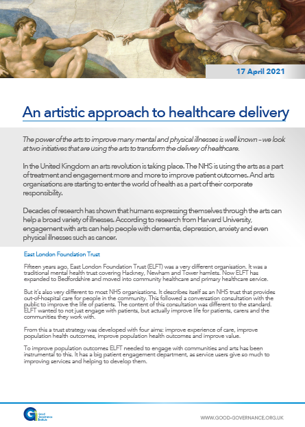 An artistic approach to healthcare delivery