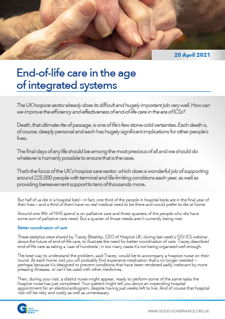 End-of-life care in the age of integrated systems