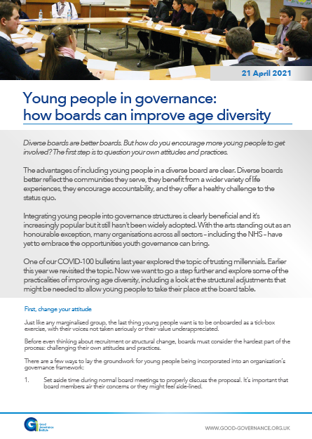Young people in governance: how boards can improve age diversity