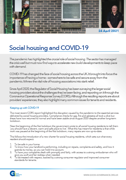 Social housing and COVID-19