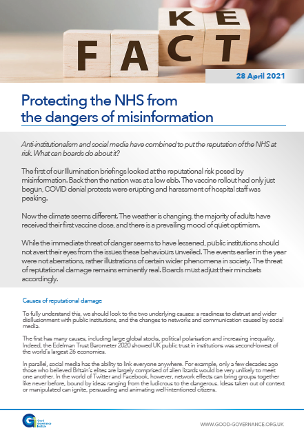 Protecting the NHS from the dangers of misinformation