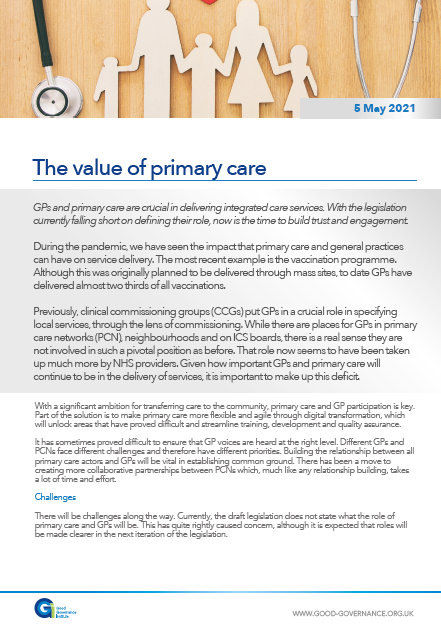 The value of primary care