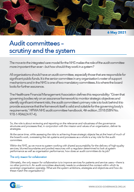 Audit committees – scrutiny and the system